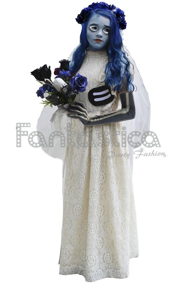 disfraz de niña novia cadáver