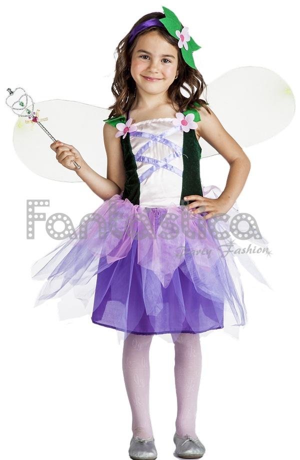 2c0bd63d6c6 Disfraz para Niña Hada del Bosque. Disfraz de cuento para niña
