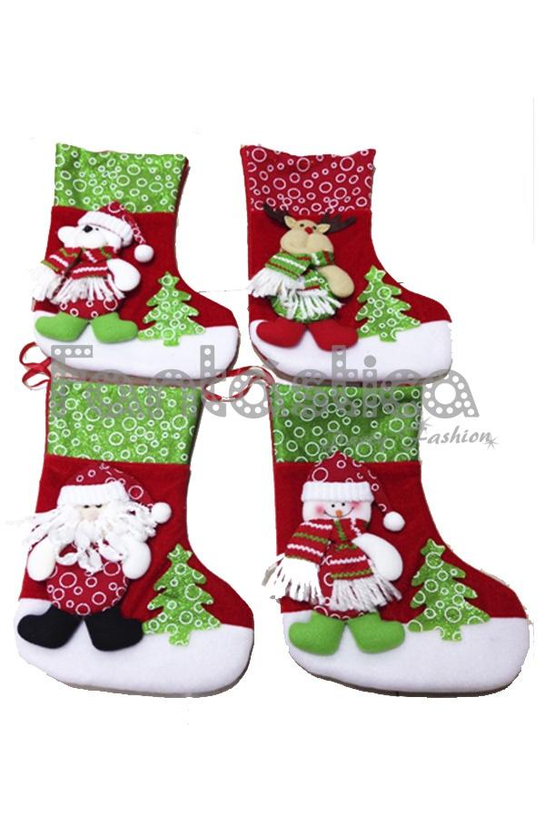 Como Decorar Calcetines Para Navidad.Decoracion Para Navidad Calcetines Papa Noel Iv
