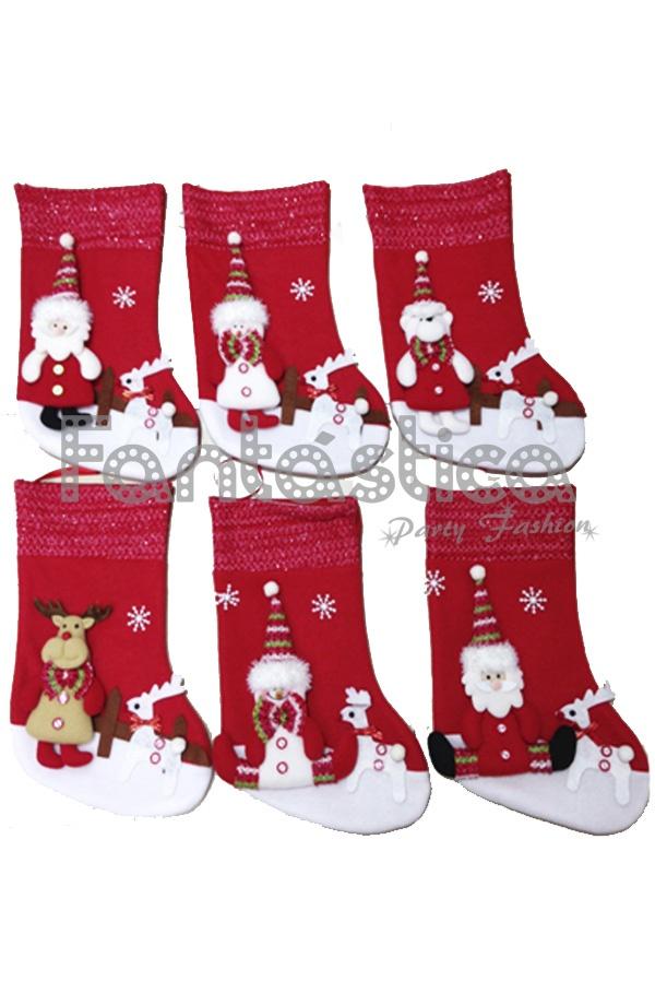 Como Decorar Calcetines Para Navidad.Decoracion Para Navidad Calcetines Papa Noel V