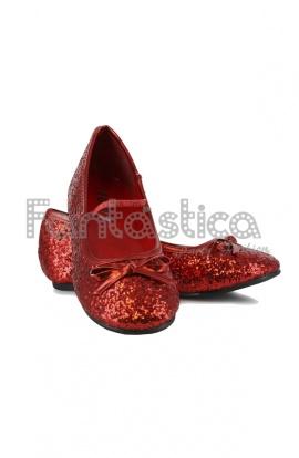 91905db65b9 Preciosas Bailarinas Color Rojo con Purpurina - Tallas para Niña y Mujer.  Complemento para disfraces de Princesa, Hada o Reina. Chulísimos zapatos  con los ...