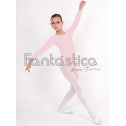 b3f3ccb108 Maillot de Danza   Gimnasia para Niña y Mujer Mangas Largas Color Rosa