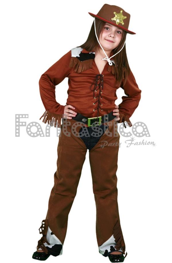 Espectacular y divertido Disfraz para Niña de Vaquera Cowgirl perfecto para  Carnaval 5dc5dd5945e
