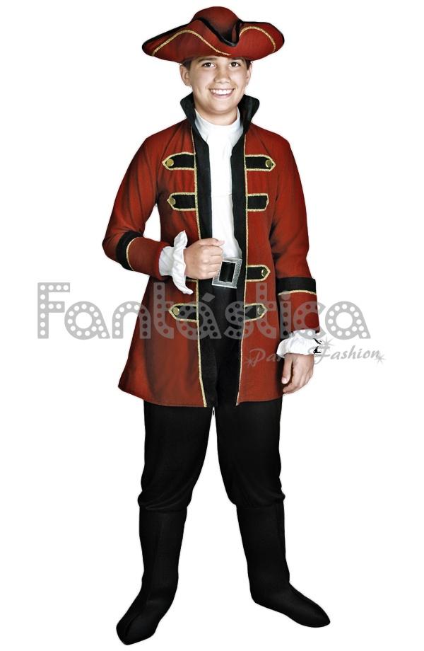Precioso Disfraz para Niño Capitán Pirata perfecto para Carnaval 589bb493efb