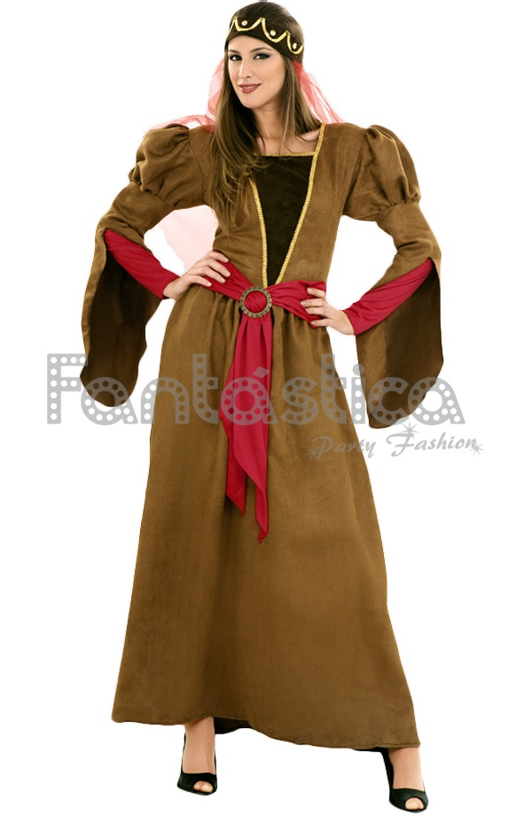 Elegante y fabuloso Disfraz para Mujer de Princesa Lady Noble Dama  Medieval d23714229d3b