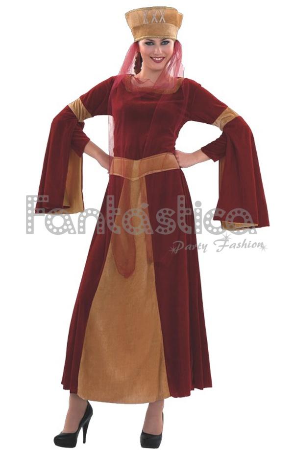 Disfraz para Mujer Lady Ginebra Medieval perfecto para Carnaval 31502930bfc0