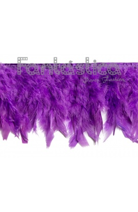 Tira Cinta de Plumas para Disfraces - Plumas de Pato Color Violeta 0b27bdfe324