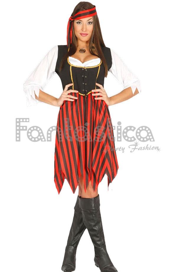 Mujer Para Disfraz De Ultramar Pirata wcWO5qZ75