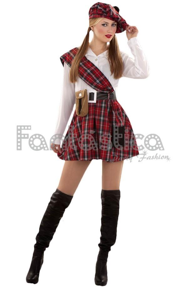 Elegante y coqueto Disfraz para Mujer de Escocesa dfd3b6c6212