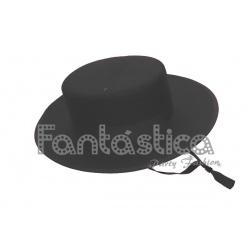 Sombrero Cordobés para Niño Disfraz de Andaluz Color Negro II ... b9e6021d575