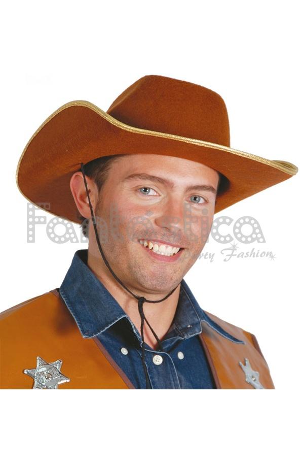 9f7137e2660bc Sombrero Vaquero para Disfraz de Cowboy Marrón