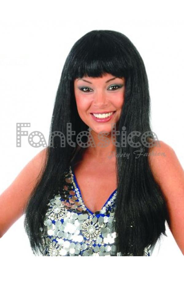 Peluca Negra con Flequillo para Disfraz. Esta peluca es perfecta para complementar  tu disfraz. Ideal como complemento de Halloween 5c9c141cf94