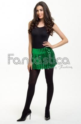 65a106047 Falda de Lentejuelas para Fiesta Color Verde