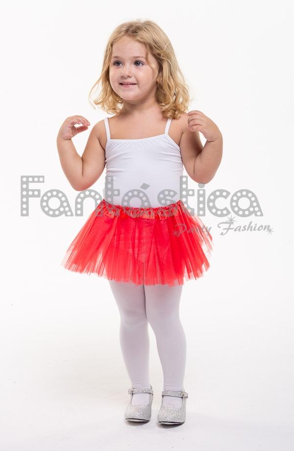 3eb561a2d Tutú para Ballet y Danza - Falda de Tul para Bebé y Niña Pequeña Color Rojo