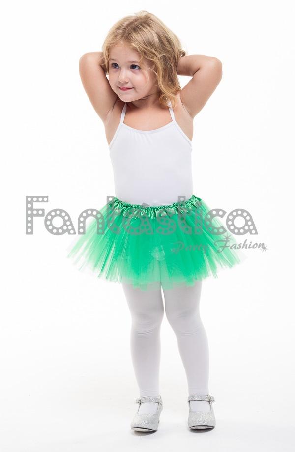 buena calidad comprar lujo elige genuino Tutú para Ballet y Danza - Falda de Tul para Bebé y Niña Pequeña Color Verde