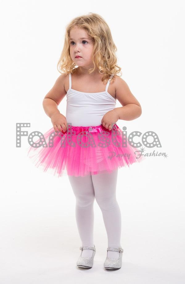 4b84fe10a Tutú para Ballet y Danza - Falda de Tul para Bebé y Niña Pequeña Color  Fucsia