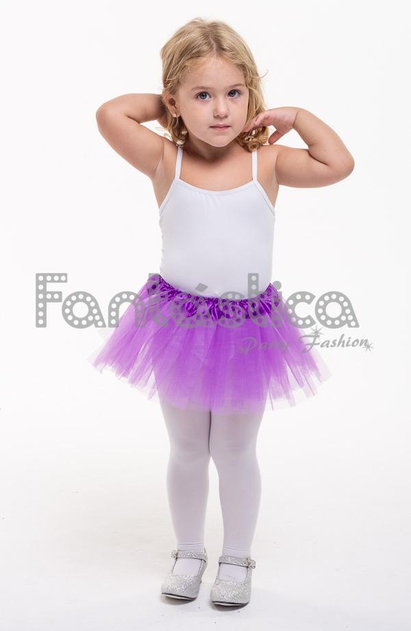 9c2b362d2f Tutú para Ballet y Danza - Falda de Tul para Bebé y Niña Pequeña Color  Morado. Falda de tul Morada para danza y gimnasia. Perfecto para disfraces  de ...