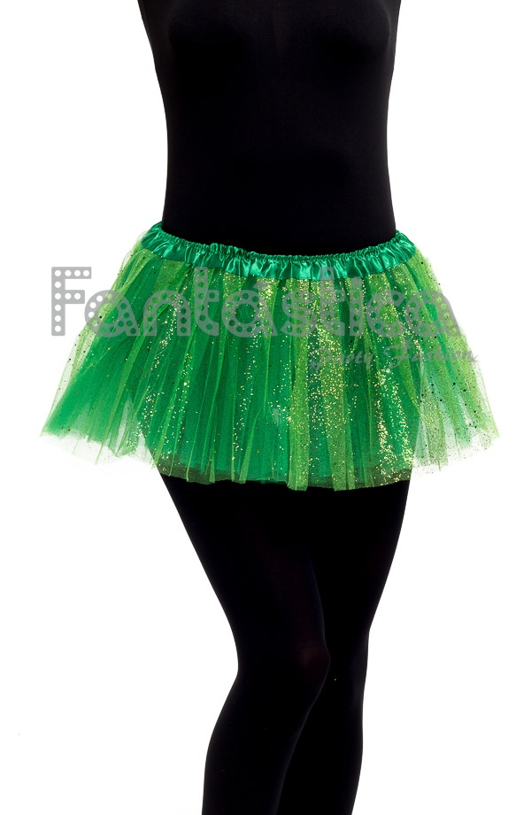 2fa354ddc Falda de Tul para Niña y Mujer Color Verde Con Brillantitos Strass. Bonito  tutú color verde con brillantitos ideal para ballet