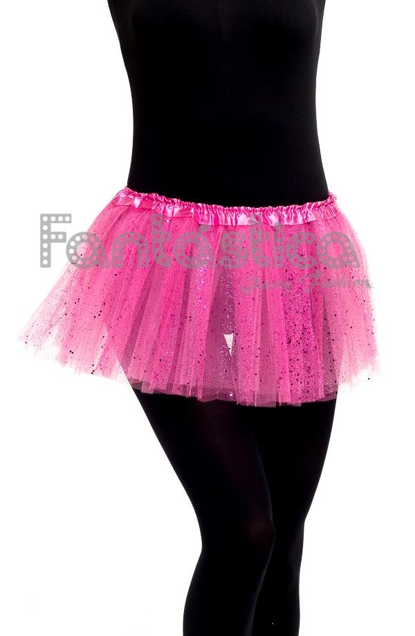 b23736a508 Falda de Tul para Niña y Mujer Color Rosa con Brillantes Strass II. Tutú  rosa ideal para ballet