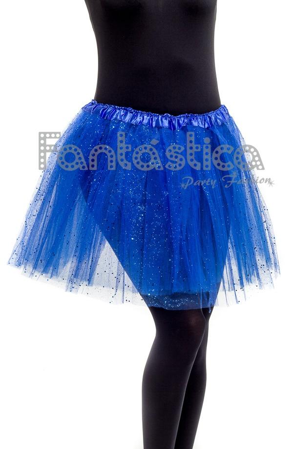 334e9c8c4d Tutú para Ballet y Danza - Falda de Tul para Mujer Color Azul con Brillantitos  Strass. Falda Tutú color azul para niña o mujer