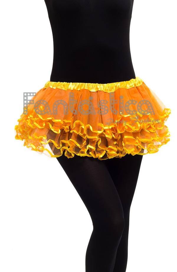 fdca759188 Tutú con volantes para Niña y Mujer Naranja. Falda de tul color naranja con  Volantes ideal para ballet