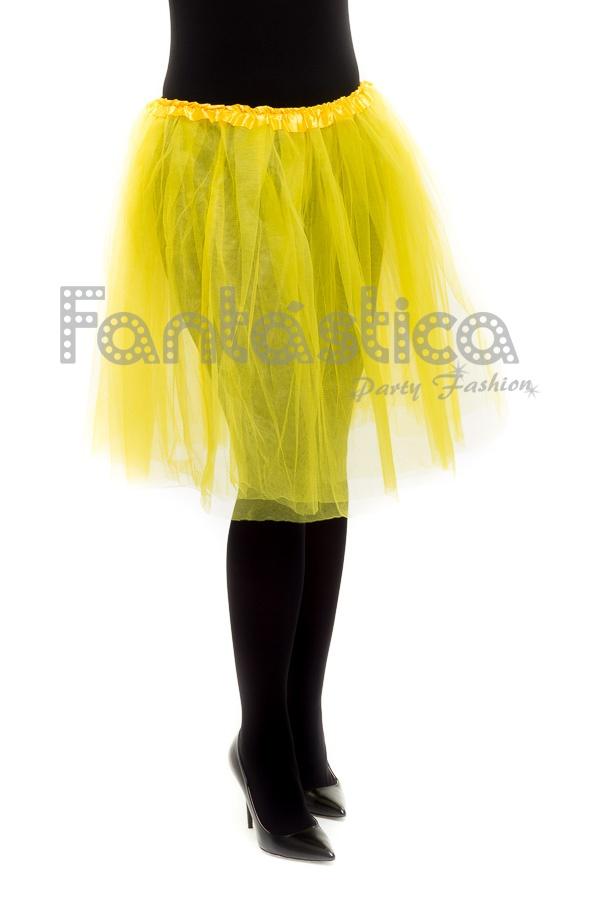 cómo hacer pedidos muy bonito Últimas tendencias Tutú para Ballet y Danza - Falda de Tul Larga para Mujer Color Amarillo