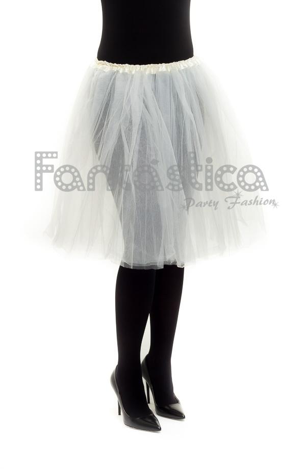 28706f4a5 Tutú para Ballet y Danza - Falda de Tul Larga para Mujer Color Blanco Roto