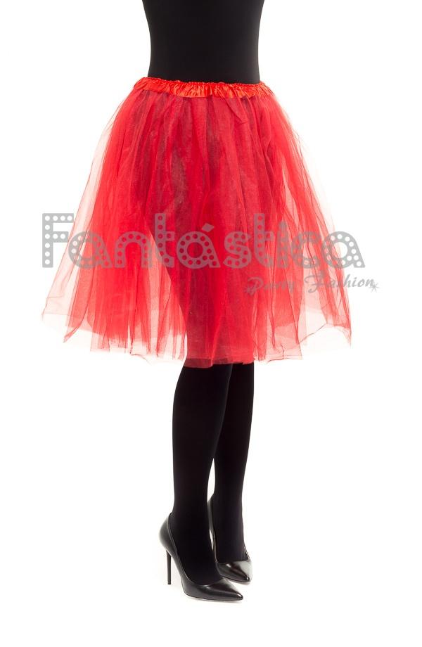 5270875a7 Tutú para Ballet y Danza - Falda de Tul Larga para Mujer Color Rojo