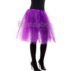 8beafdda7 Tutú para Ballet y Danza - Falda de Tul Larga para Mujer Color Violeta