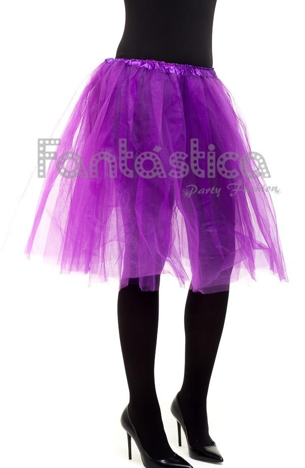 3c9f4f9bbfb Tutú Largo para Ballet y Danza Violeta. Falda de tul larga color violeta  para mujer