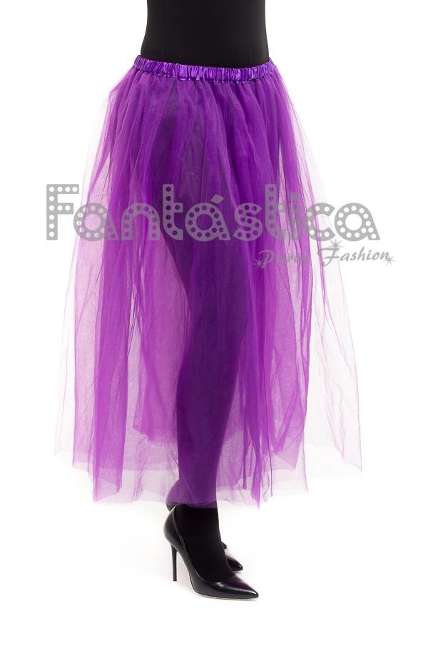 4f6e674b4 Tutú para Ballet y Danza - Falda de Tul Extra Larga para Mujer Color Violeta