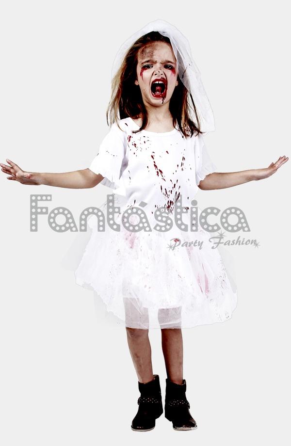 Disfraz de Niña Novia Sangrienta