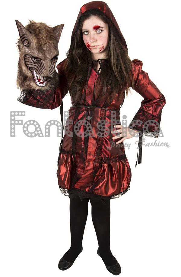 Disfraz de Niña Caperucita Roja Zombie. Aterrador disfraz de Caperucita Roja  Zombie ec73e56827cd