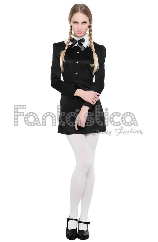 f40dd1f8aa89 Disfraz para Mujer Niña Gótica. Aterradoramente divertido disfraz para  mujer de niña gótica