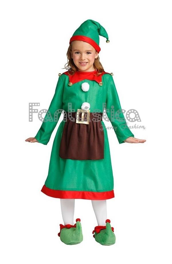 Disfraz para beb y ni a elfa navide a iv - Disfraz navideno nina ...