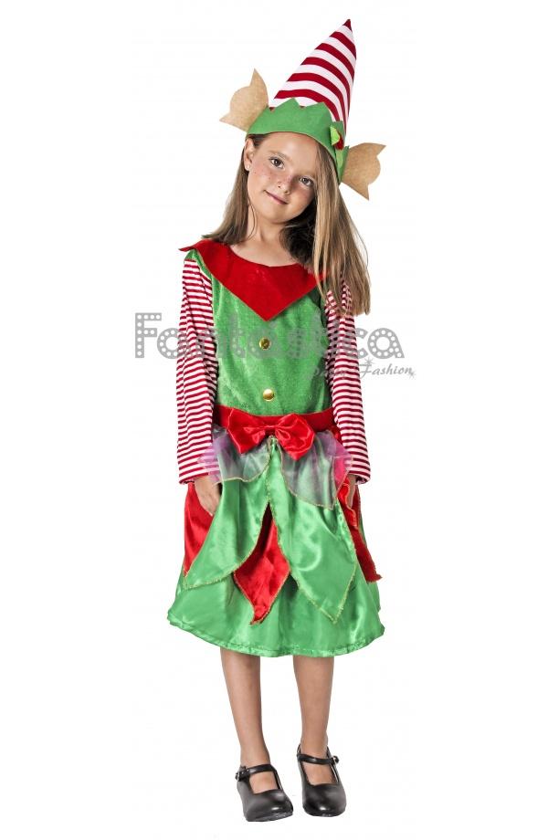 Disfraz para ni a elfa navide a - Disfraz navideno nina ...