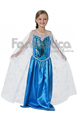 23fbf6813 Disfraz para Niña Princesa Elsa de la película Frozen. Espectacular disfraz  de princesa de cuento para niña que incluye vestido. Un disfraz sensacional  para ...