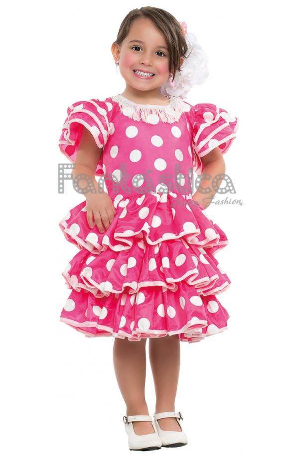 37e02a57a Disfraz para Niña Bailarina Flamenca Vestido Fucsia