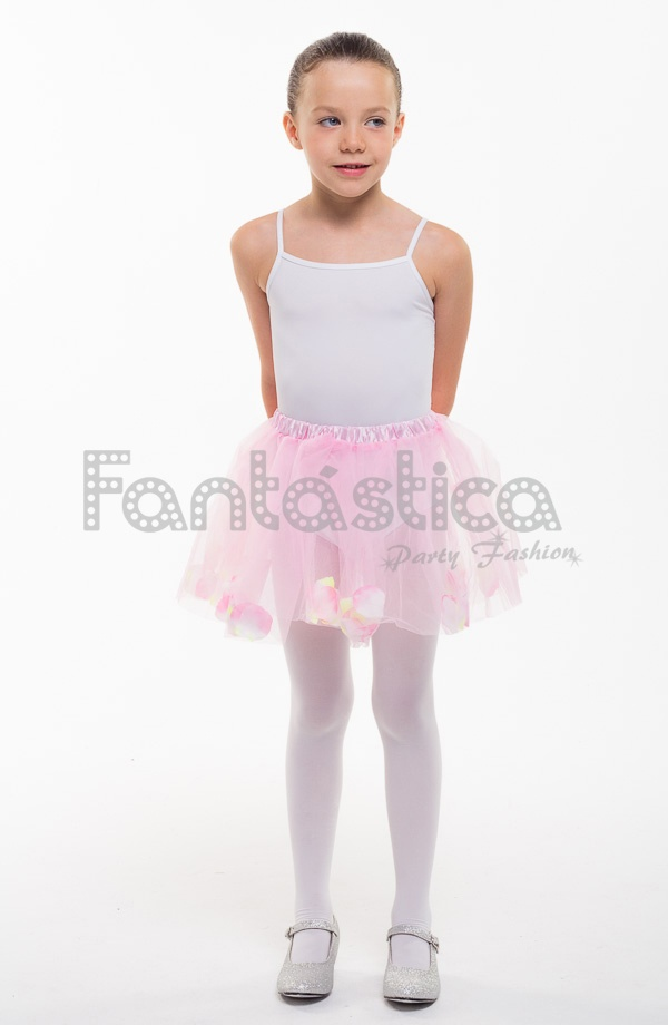 2a30378e0 Tutú para Ballet y Danza - Falda de Tul con Pétalos para Bebé y Niña  Pequeña Color Rosa