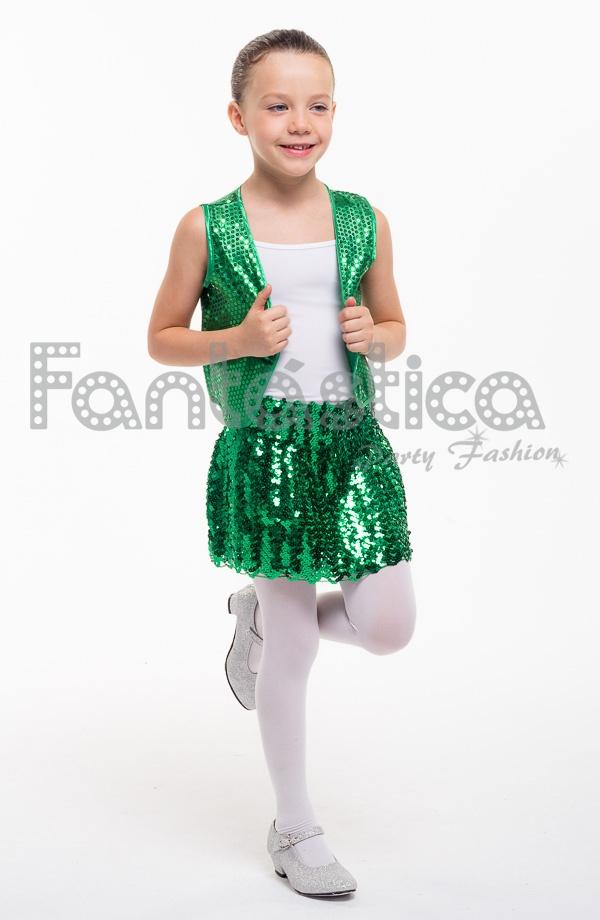 6f0cf8d99 Falda de Lentejuelas para Niña Color Verde