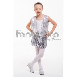 6d5275180dfdd Espectacular falda con lentejuelas en color plata. Genial para Carnaval