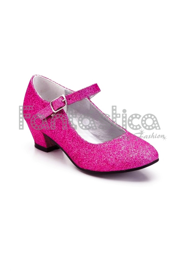 60% barato buena calidad una gran variedad de modelos Zapatos Color Fucsia con Purpurina - Tallas para Niña y Mujer