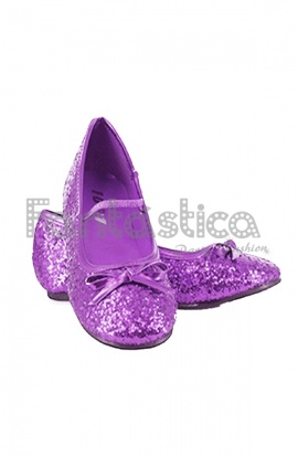 20adfa464 Fantásticas Bailarinas Color Violeta con Purpurina - Tallas para Niña y  Mujer. Complemento para disfraces de Princesa