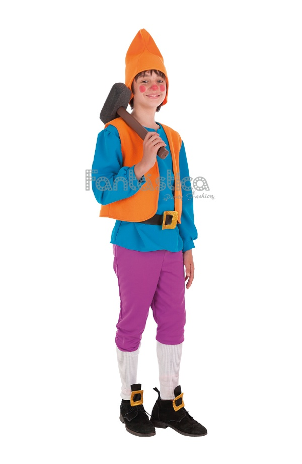 Disfraz para niño Enanito Duende Azul. Estupendo disfraz de enanito o duende  que incluye camisa d07f5fb10d4