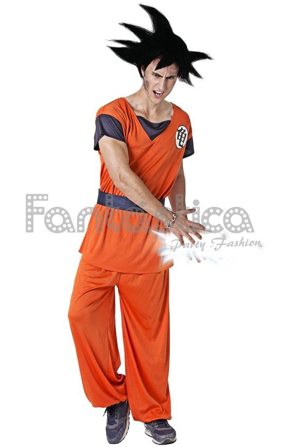 Disfraz para Hombre Gokū de Dragon Ball. Asombroso disfraz de Gokū Dragon  Ball 029d56b1e996