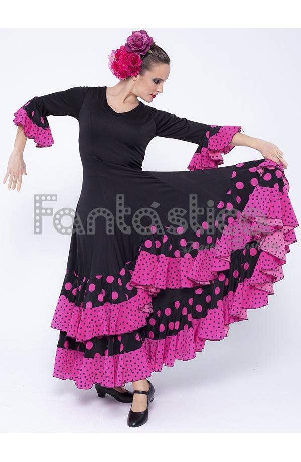 Vestidos de color fucsia con negro