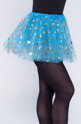 f5f36c5608 Tutú para Ballet y Danza - Falda de Tul con Lunares para Niña y Mujer Color  Azul Turquesa