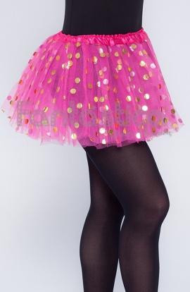 9e9f54632 Tutú para Ballet y Danza - Falda de Tul con Lunares para Niña y Mujer Color  Fucsia