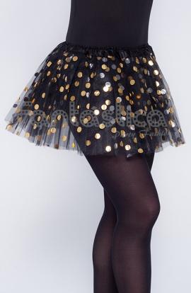 edba6b731 Tutú para Ballet y Danza - Falda de Tul con Lunares para Niña y Mujer Color  Negro