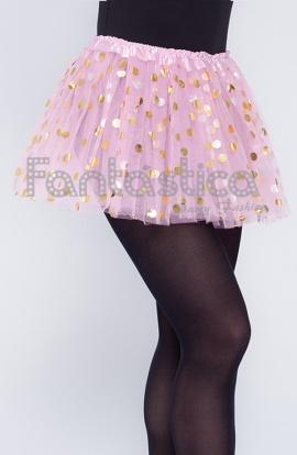 43975bf198 Tutú para Ballet y Danza - Falda de Tul con Lunares para Niña y Mujer Color  Rosa